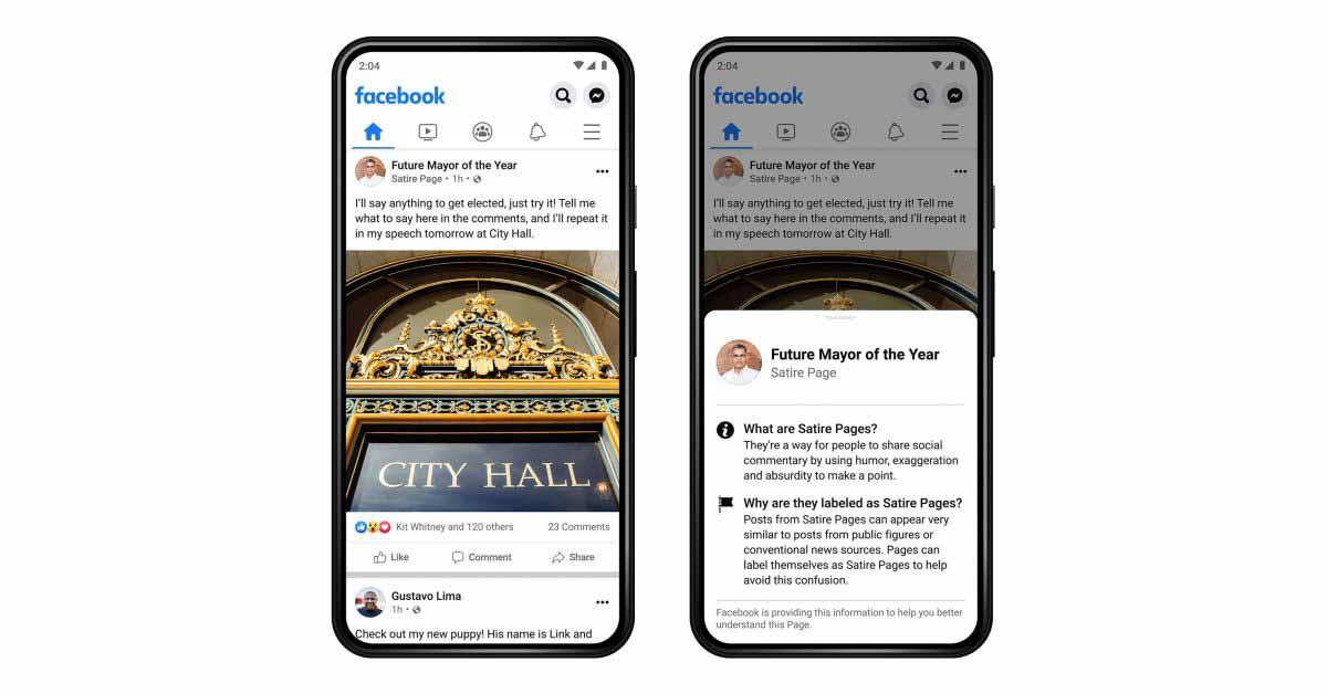 Facebook сообщит вам, является ли страница сатирой, но не сообщит об утечке данных.