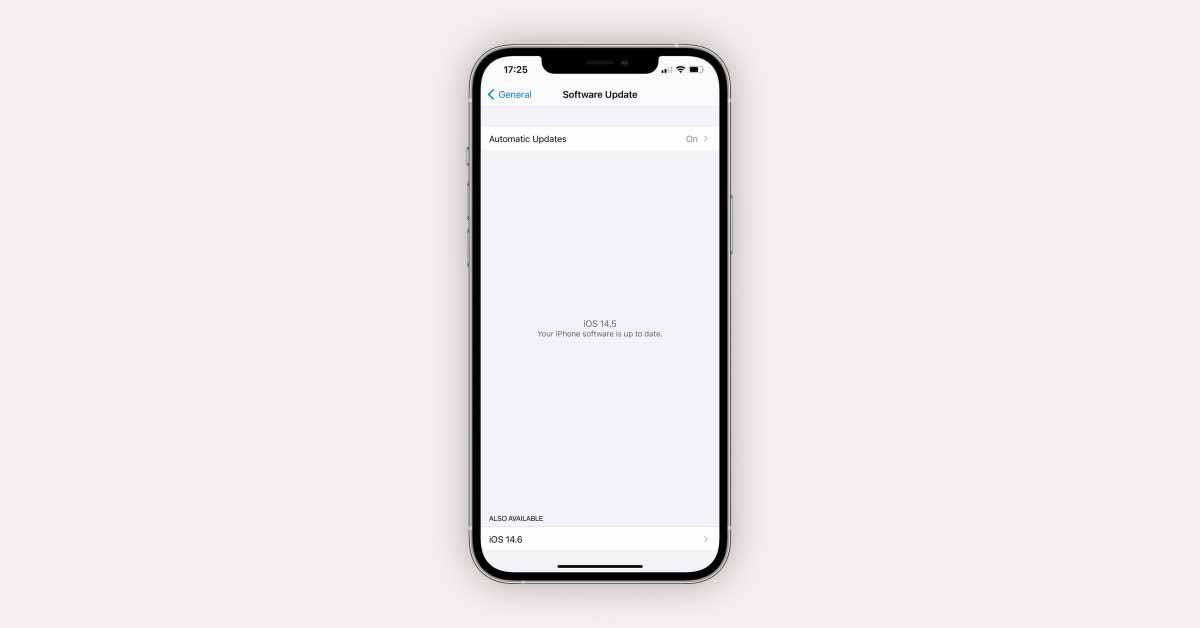 iOS 14.6 упрощает для пользователей бета-версии установку сборки RC и пропускает другие доступные бета-обновления.