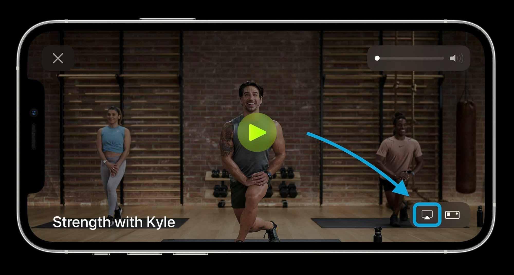 Как AirPlay Apple Fitness+ классы к телевизору - пошаговое руководство 1