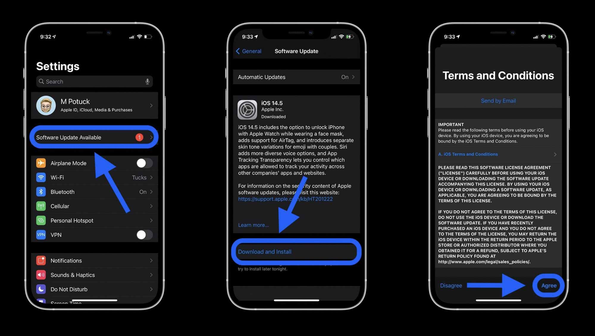 Как установить iOS 14.5 на iPhone