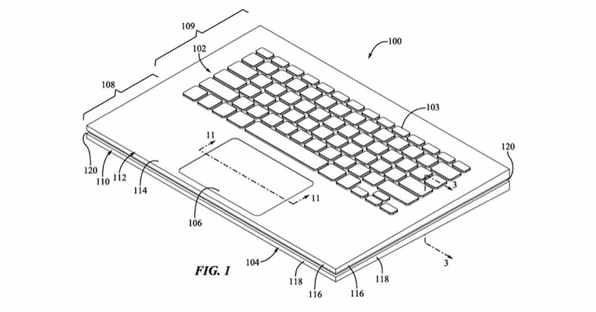 Комбинация Magic Keyboard и Trackpad - патентное приложение Apple.