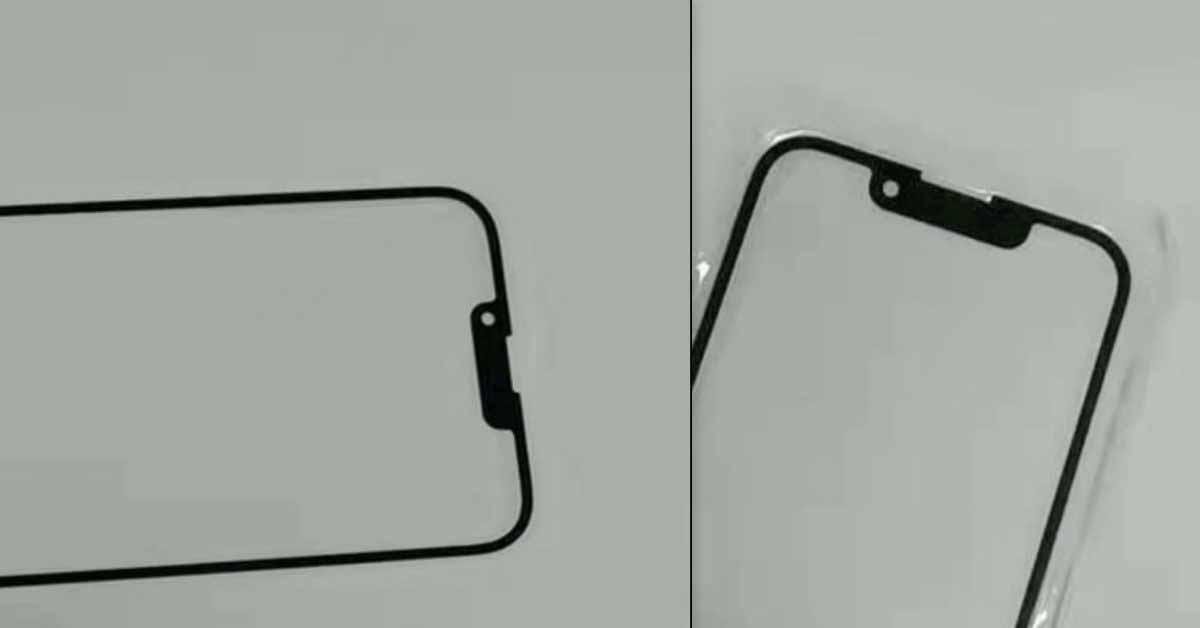 На фото показан вырез iPhone 13 и iPhone 13 mini, ширина которого примерно на 30% меньше.