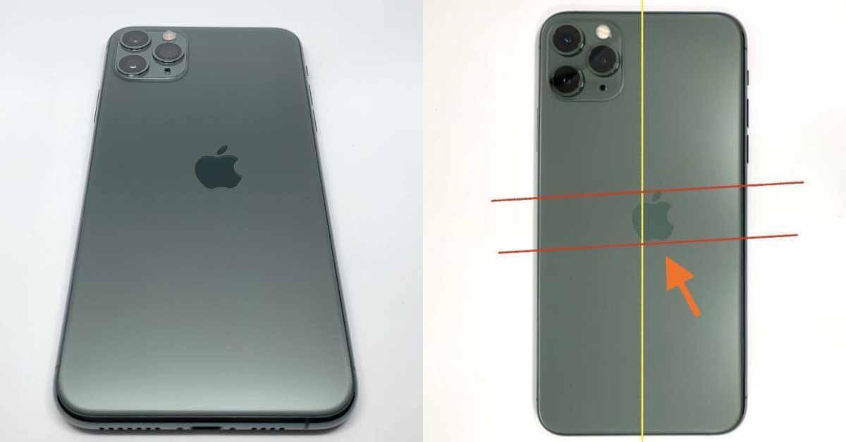 На изображениях изображена «чрезвычайно редкая» опечатка на iPhone 11 Pro с неверно выровненным логотипом Apple