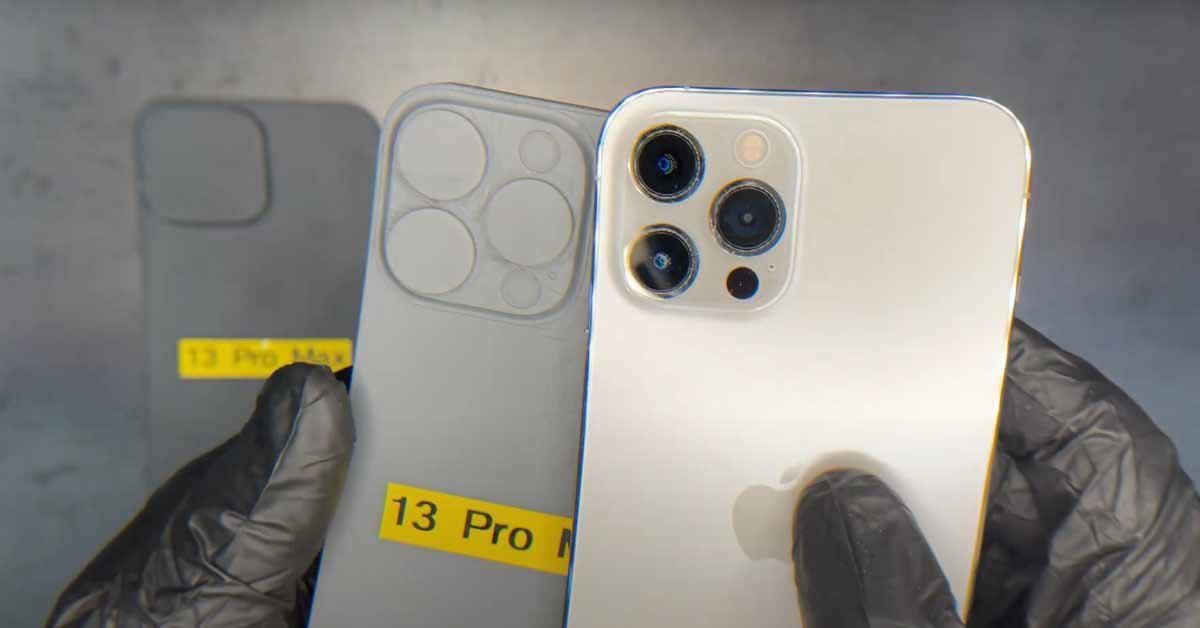 На просочившихся схемах показаны объективы камеры значительно большего размера на iPhone 13 Pro Max