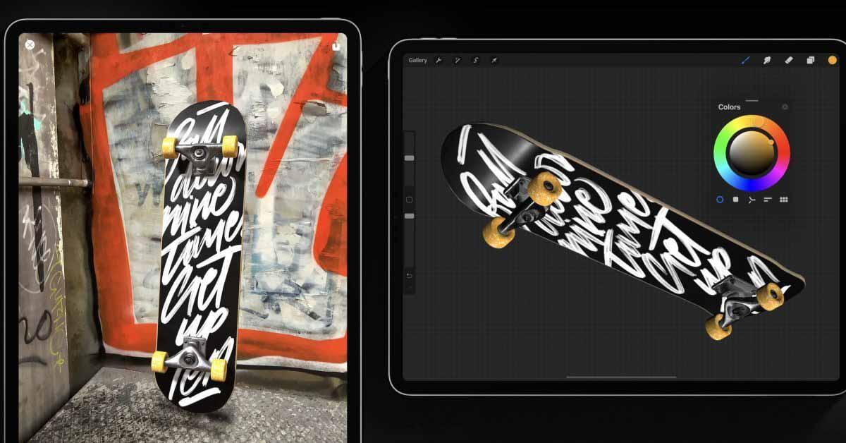 Procreate заявляет о поддержке iPad M1: в 4 раза быстрее, рисование на 3D-моделях, улучшенная доступность