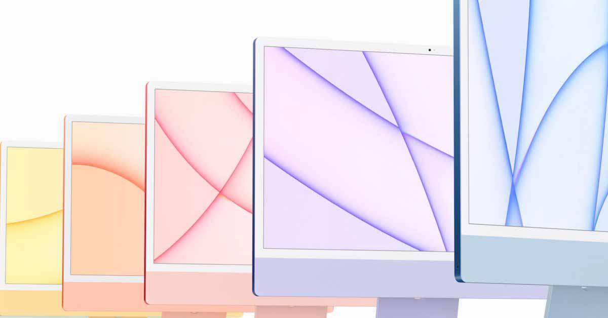 Загрузите красочные обои нового обновленного iMac прямо здесь
