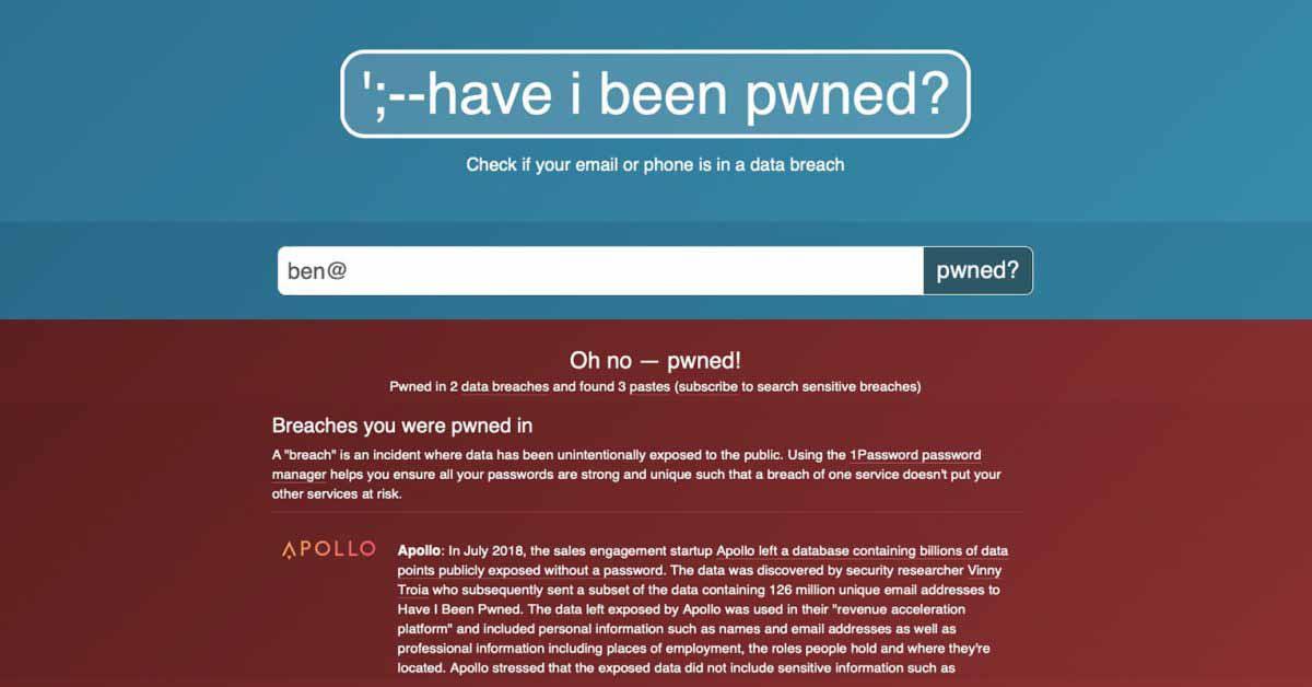 Был ли я Pwned выходит с открытым исходным кодом, получает фид данных ФБР