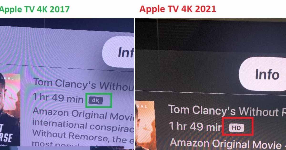 Некоторый контент 4K неправильно отображается как HD на новой приставке Apple TV