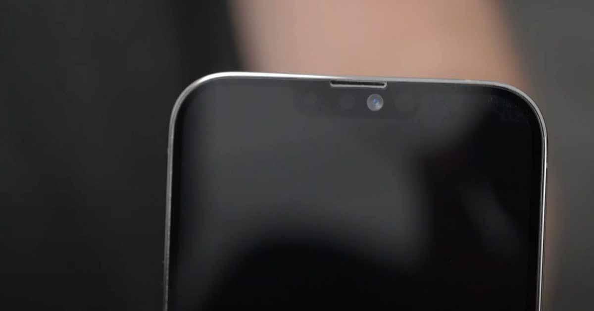 Уменьшение размера выемки в iPhone 13 благодаря микросхеме Face ID половинного размера