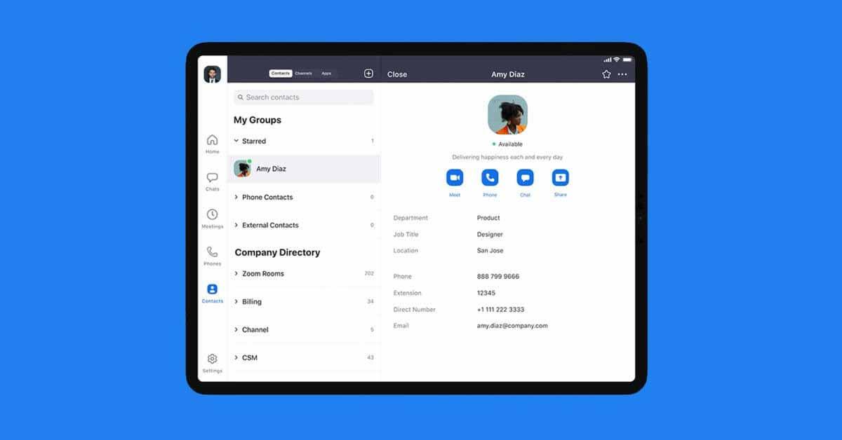 Zoom получил доступ к API частной камеры iPad