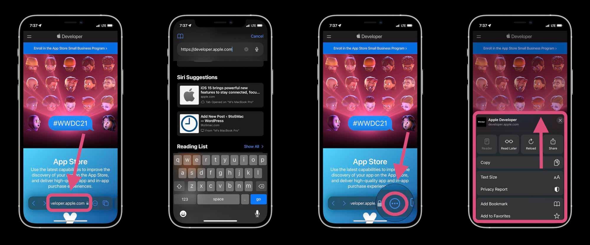 Как работает Safari в iOS 15 - строка меню, строка URL, более