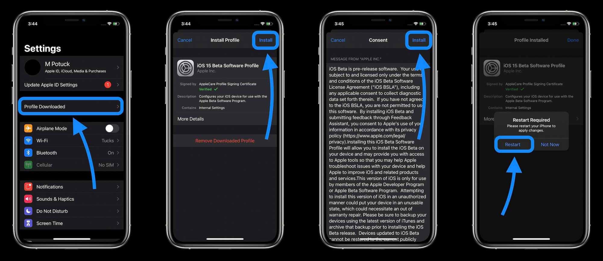 Как установить бета-версию iOS 15 - пошаговое руководство 3