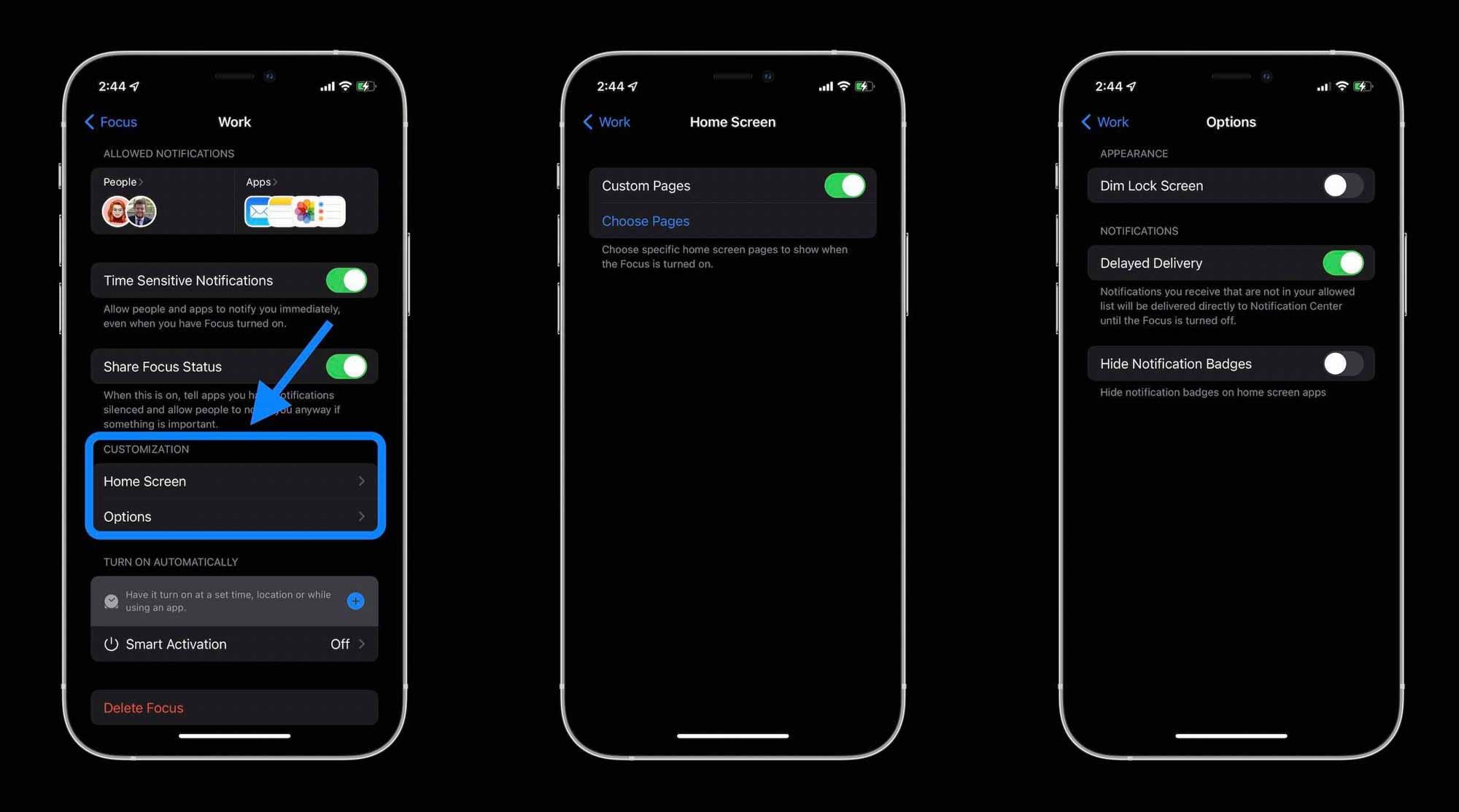 Как использовать iPhone Focus в iOS 15 - настройка 3