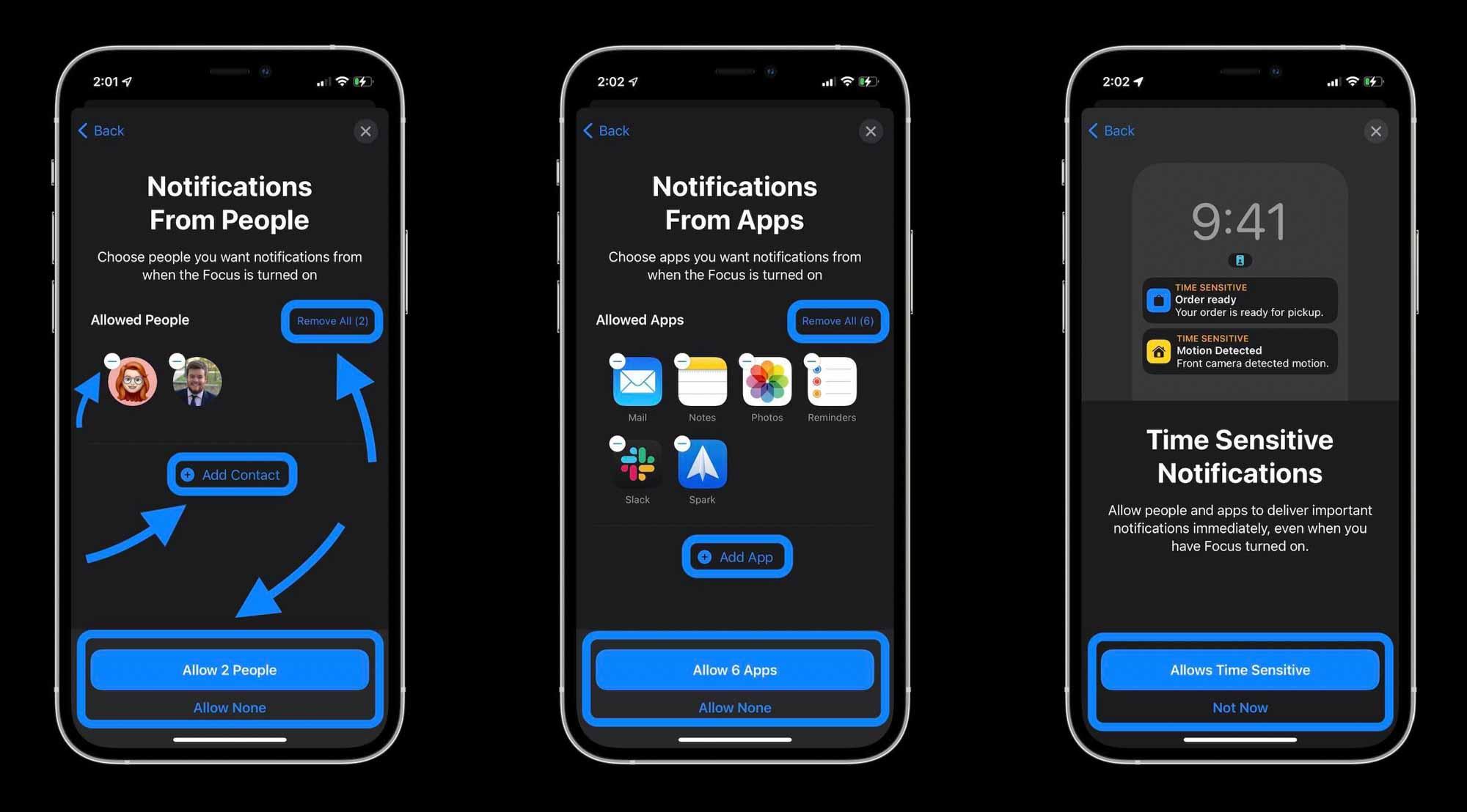 Как использовать iPhone Focus в iOS 15 - процесс настройки 2