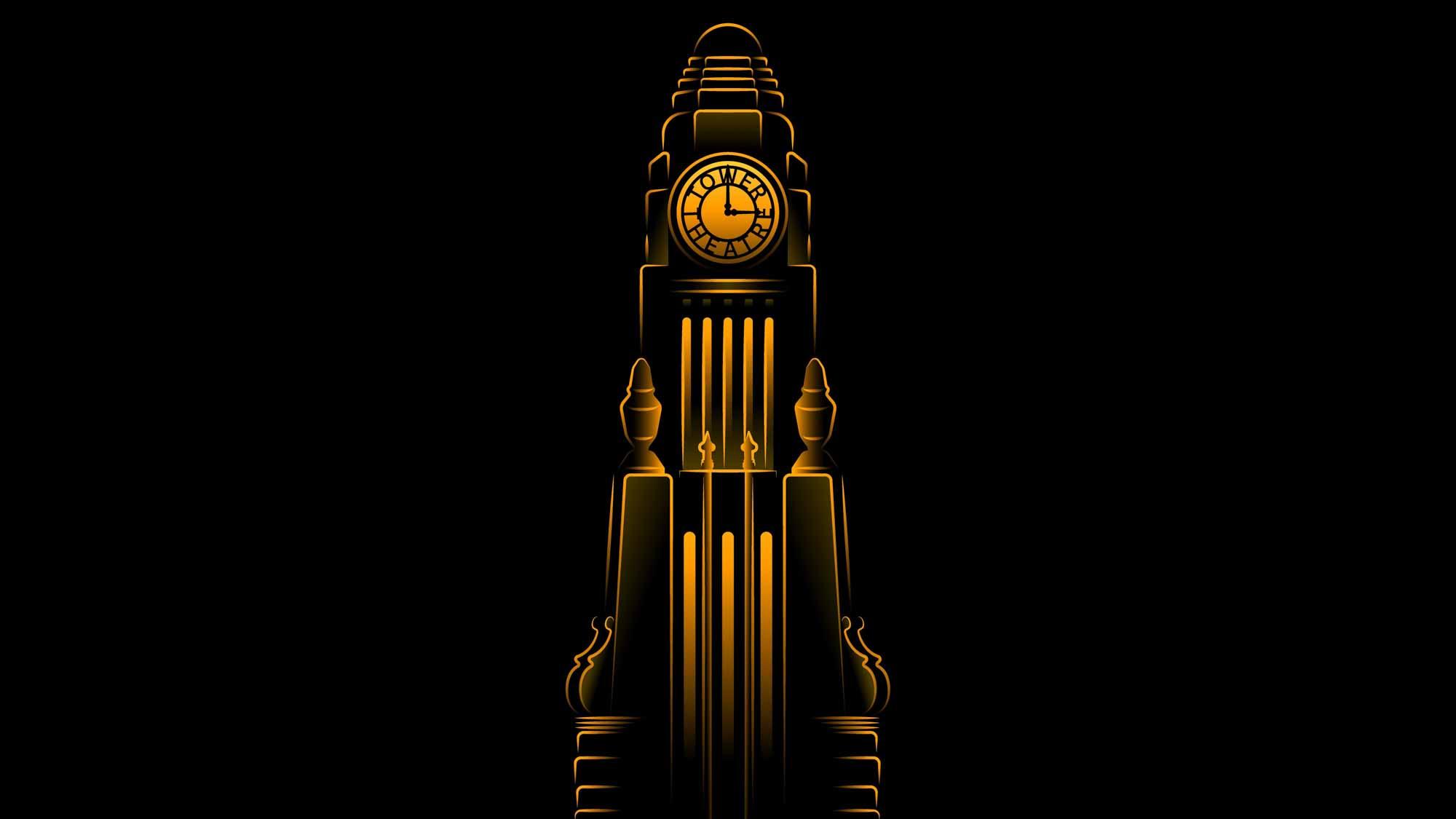 Башня с часами театра Apple Tower
