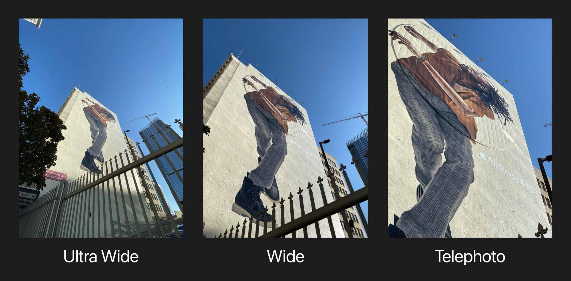 Сделайте фото-прогулку. Во время движения переключайтесь между широким и сверхшироким линзы, чтобы узнать, как разные точки зрения рассказывают разные истории.