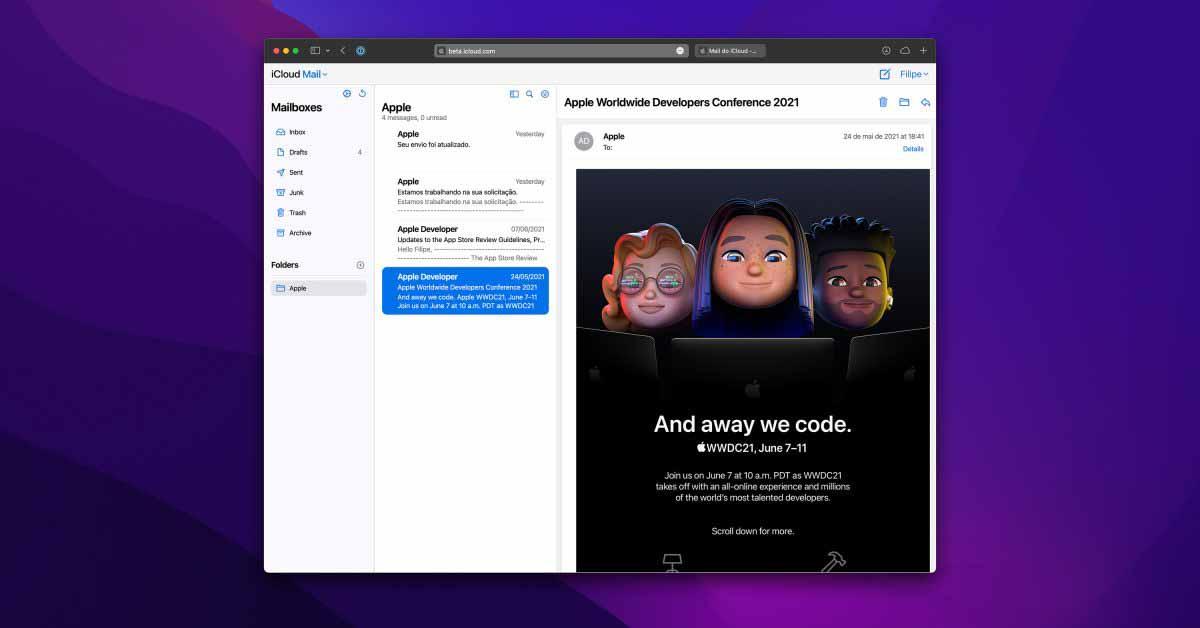 iCloud Mail получает обновленный интерфейс в сети
