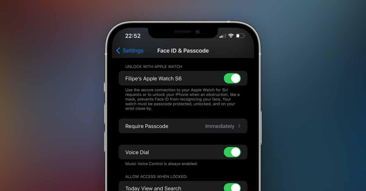 iOS 15 позволяет персональные запросы Siri с функцией «Разблокировать с помощью Apple Watch»