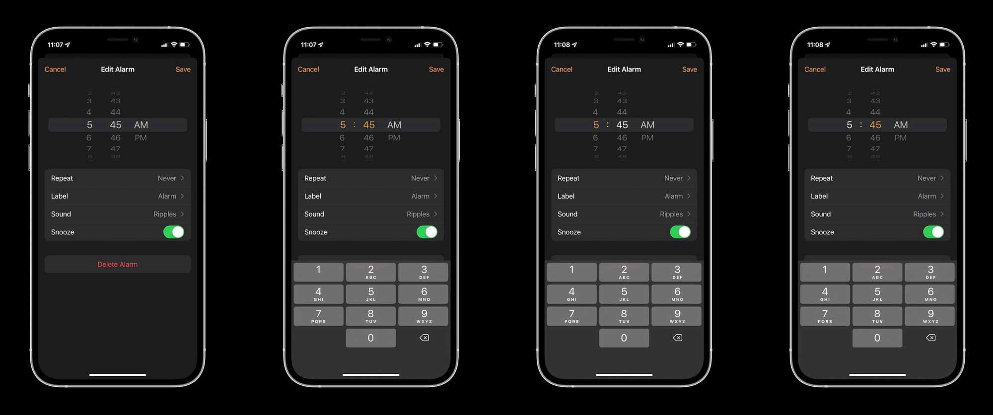 Средство выбора набора номера iOS 14 - гибридный дизайн iOS 13 и 14