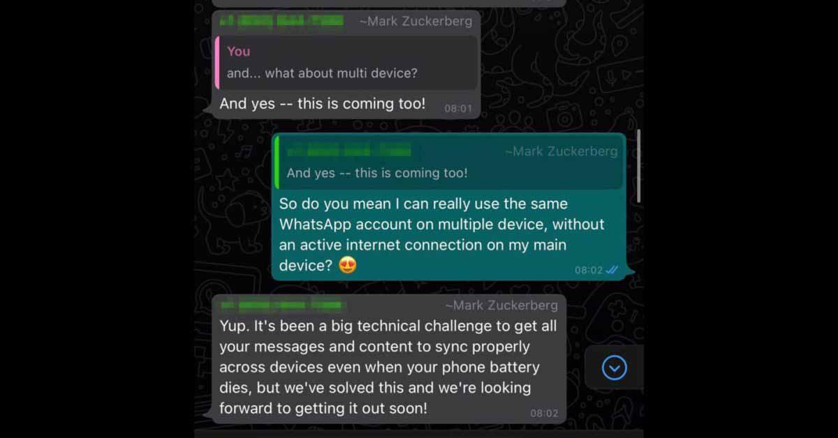 Марк Цукерберг намекнул на приложение WhatsApp для iPad