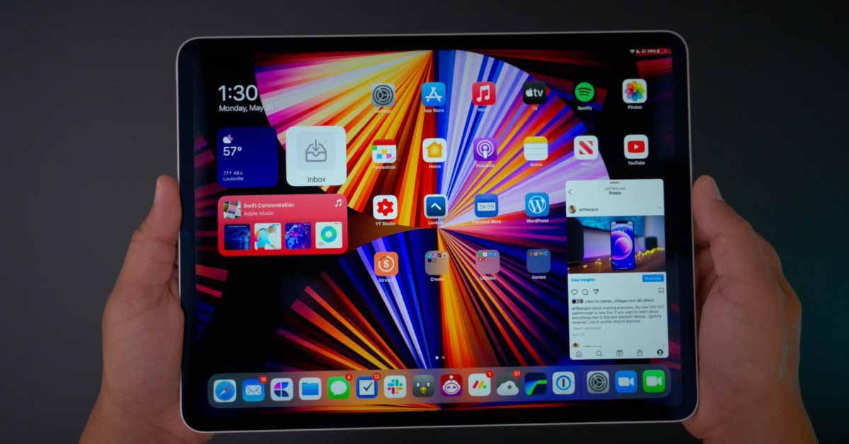 Марк Гурман: Apple изучает будущие дизайны iPad с большими экранами