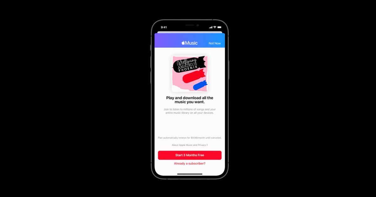 Новый API Apple MusicKit позволяет разработчикам предлагать пробные версии Apple Music и вознаграждает их выплатой
