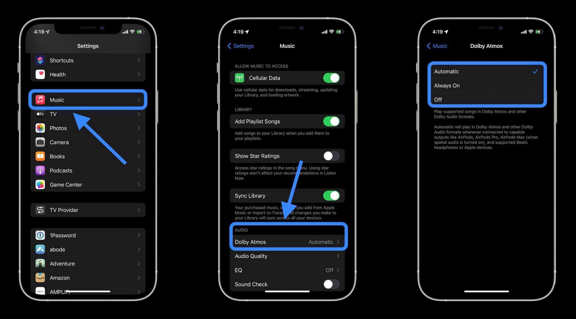 Как включить Dolby Atmos Spatial Audio в Apple Music
