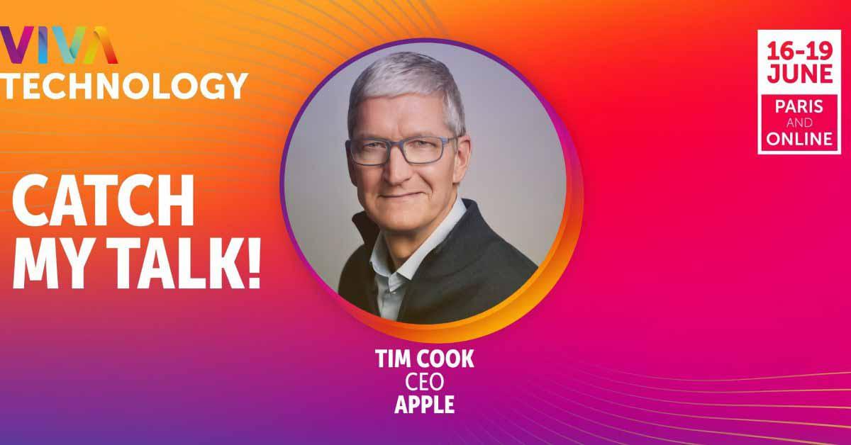 Тим Кук выступит на конференции VivaTech в конце этого месяца