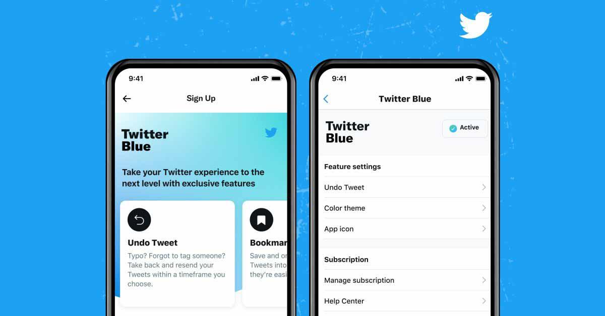 Twitter запускает свою подписку на Twitter Blue с функцией отмены твитов по цене $ 2,99 в месяц.