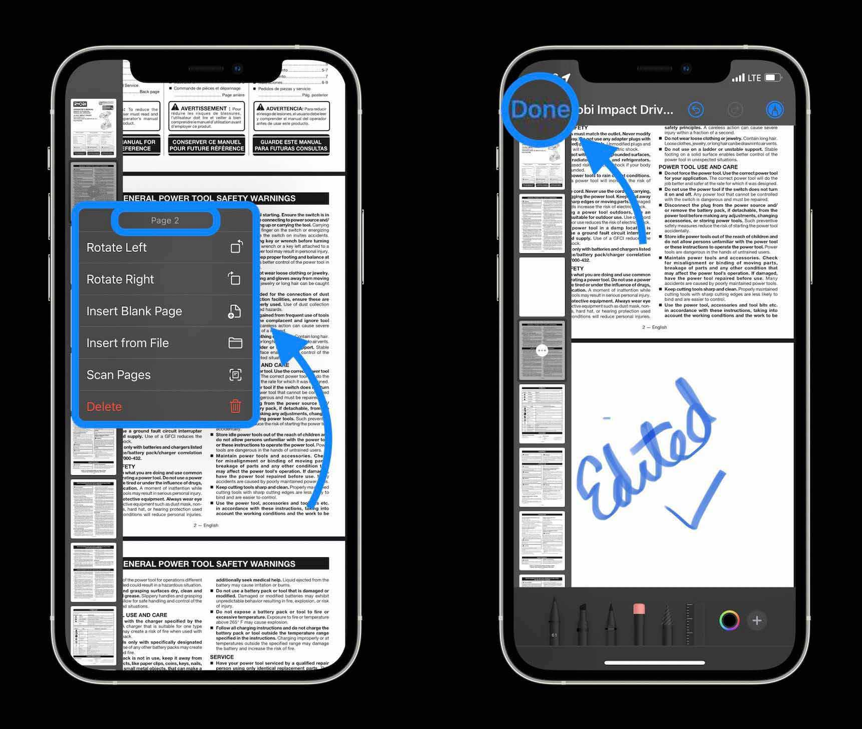 Как редактировать PDF-файлы на iPhone и iPad в iOS 15 - прохождение 2