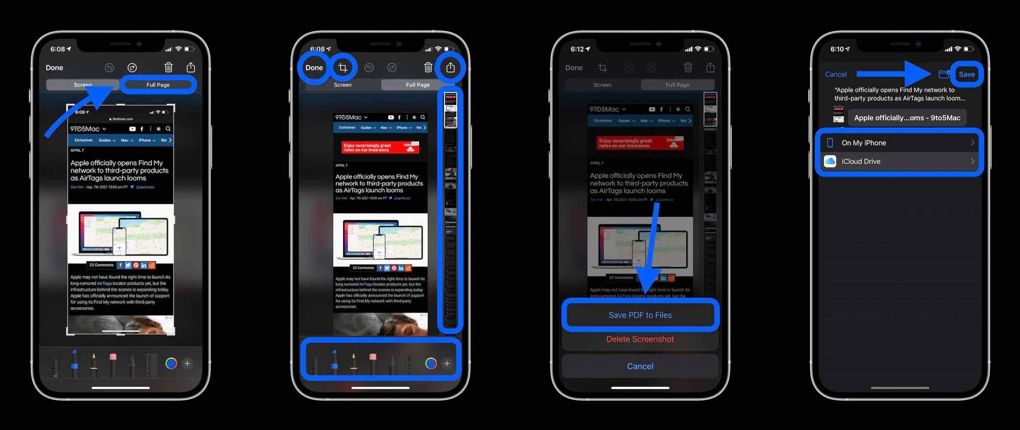 Как сделать снимок экрана с прокруткой на iPhone, пошаговое руководство