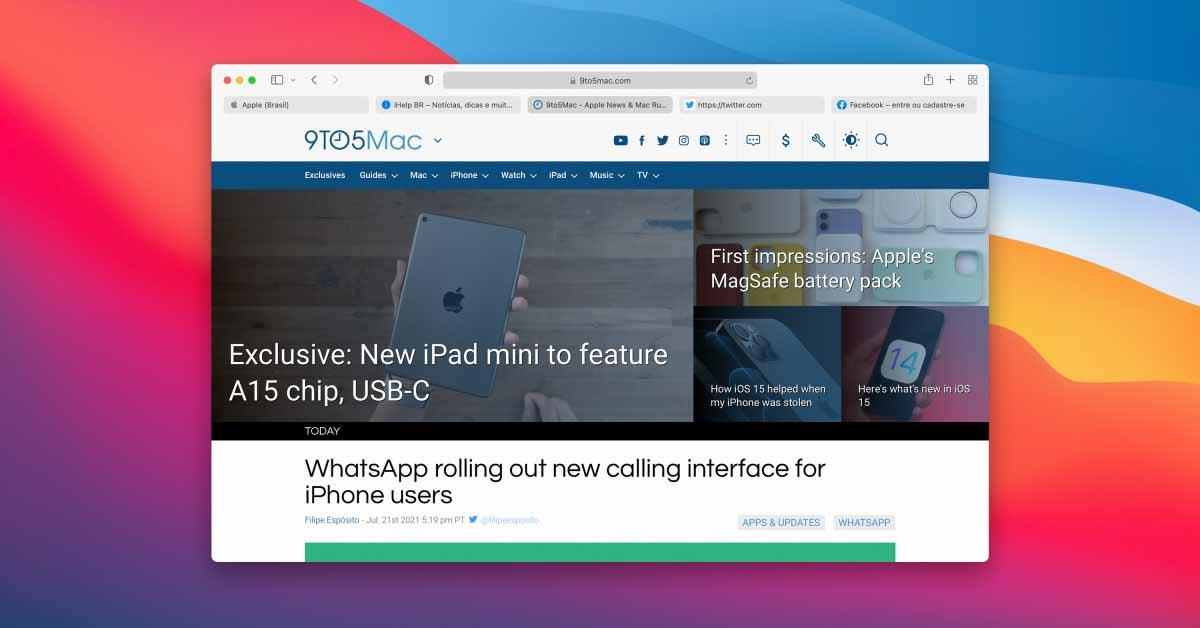 Safari Technology Preview 128 выпущена с новым интерфейсом вкладок